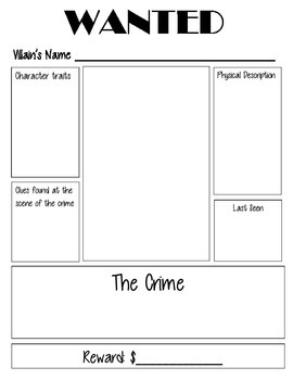 Folktale Wanted Poster and Rubric