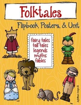 Folktales Flipbook,Posters,& Unit(tall tales,fairy tales,l