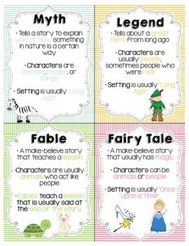 Folktales Poster/Anchor Chart + Workstation Idea - FREE!