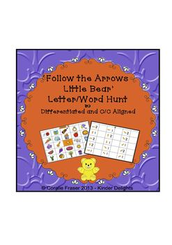 'Follow the Arrows Little Bear' Letter/Word Hunt Different
