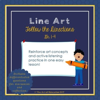 Follow the Directions Line Art Activity with Critical Thin