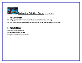Follow the Drinking Gourd for Literature Circles