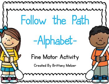 Follow the Path-Alphabet (A Fine Motor Activity)