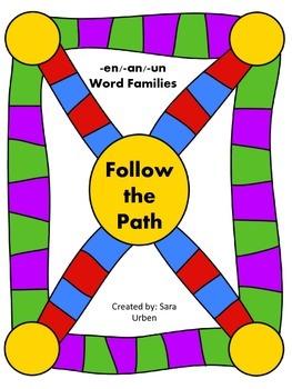 Follow the Path: -en/-an/-un Words
