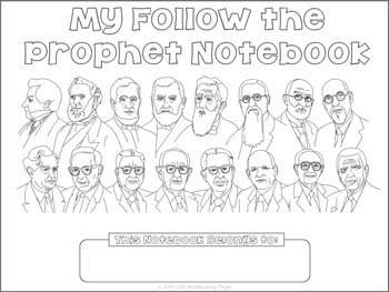 Follow the Prophet Tracing Notebook