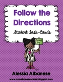 Follow-the-directions Student Task Cards