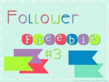 Follower Freebie #3 Fun Flag Accent C.U. Okay!