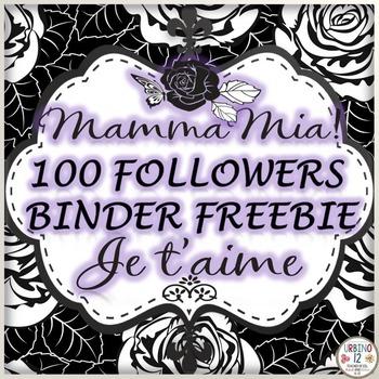 100 Followers Freebie Binder Covers