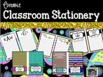 Editable Stationery and Notepads