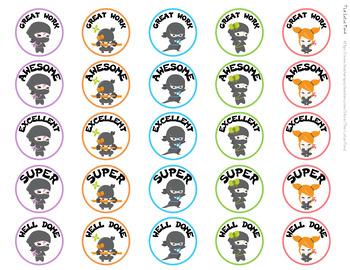 Follower Freebie - Ninja Stickers