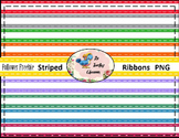 Follower Freebie Striped Satin Ribbons (Digital Ribbons fo