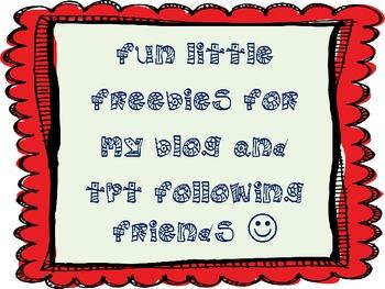 Follower Freebies!