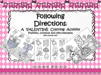 Following Directions: A Valentines Coloring Activity