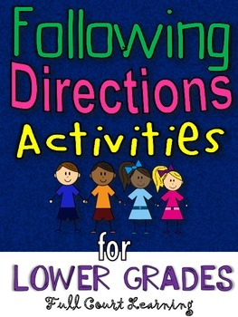 Following Directions Activities - for Lower Grades