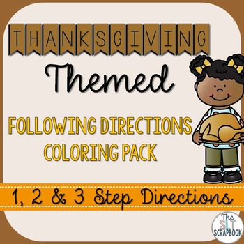 Following Directions Coloring Pack- Thanksgiving Themed, 1