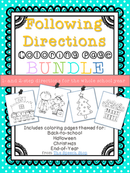 Following Directions Coloring Packet for the whole year (Bundle)