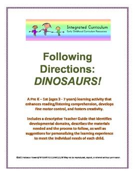 Following Directions: Dinosaurs (Pre-K - 1st Listening/Rea
