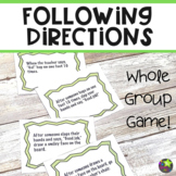 Following Directions Game