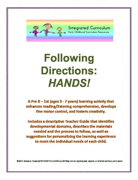 Following Directions: Hands (Pre K - First Listening Compr