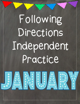 Following Directions Independent Practice: January