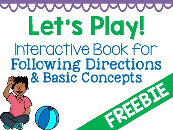 Following Directions Interactive Book Activity