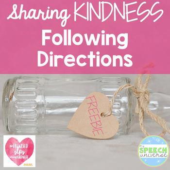 Following Directions Kindness Freebie
