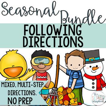 Following Directions Seasonal Bundle- No Prep Speech Therapy