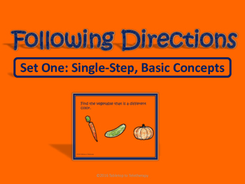 Following Directions: Single-Step, Basic Concepts (Set One)