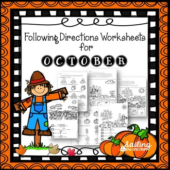 Following Directions Worksheets for October