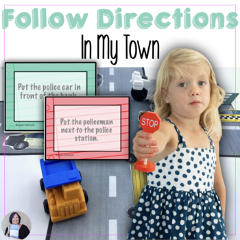 Following Directions in My Town for Speech Therapy, Autism
