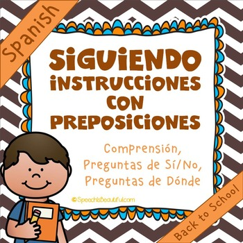 Following Directions with Prepositions - Back-to-School! {