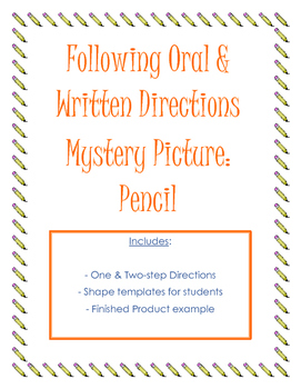 Following Oral & Written Directions: Pencil