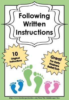 Following Written Instructions - 10 Engaging Activities!
