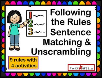 Following the Rules Sentence Matching and Unscrambling