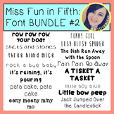 Font BUNDLE #2 by Miss Fun in Fifth