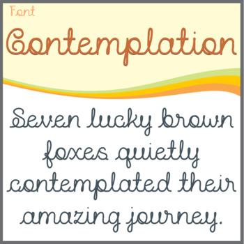 Font: Contemplation (True Type Font)