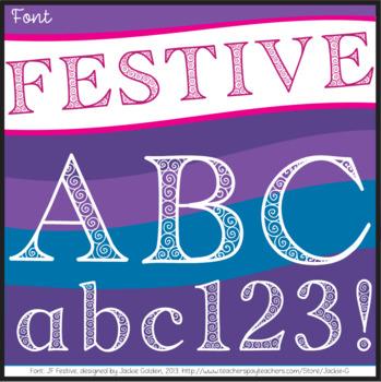 Font: Festive (True Type Font)