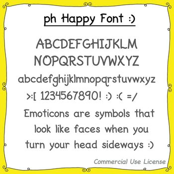 Font:  Happy (with commercial use license)