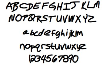 Font For Personal or Commercial Use: My Man