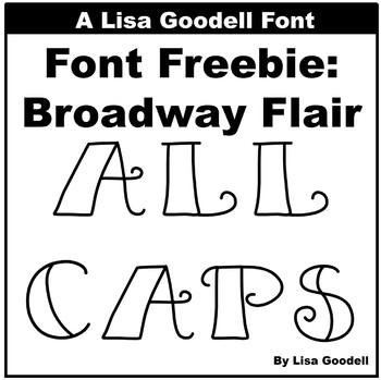 Font Freebie: Broadway Flair (All Caps)