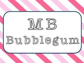 Font * MB BUBBLEGUM - For personal & commercial use.