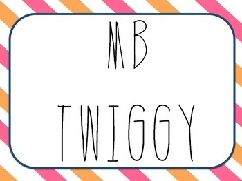Font * MB TWIGGY - For personal & commercial use.