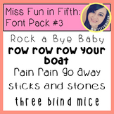Font Pack #3 by Miss Fun in Fifth