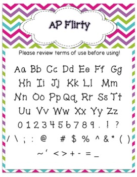 Font - Personal or Commercial Use:  AP Flirty