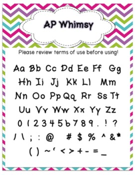Font - Personal or Commercial Use:  AP Whimsy