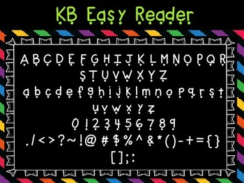 Font - Personal or Commercial Use: KB Easy Reader