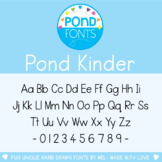 Font - Pond Kinder - For Personal and Commercial Use