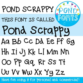 Font: Pond Scrappy