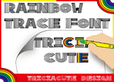 Font for COLORING - Rainbow Trace Font, alphabet letters a
