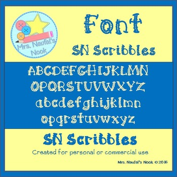 Font SN Scribbles